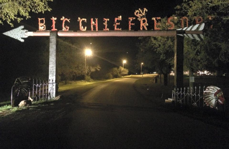 Entrance at Big Chief RV Resort.