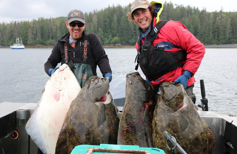 Fishing at The Fireweed Lodge.