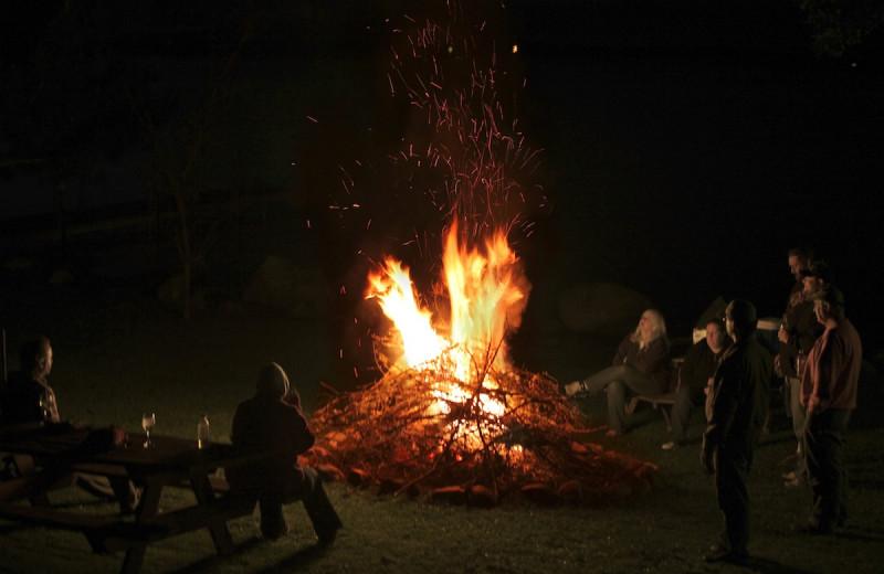 Bonfire at Glenmore Resort.