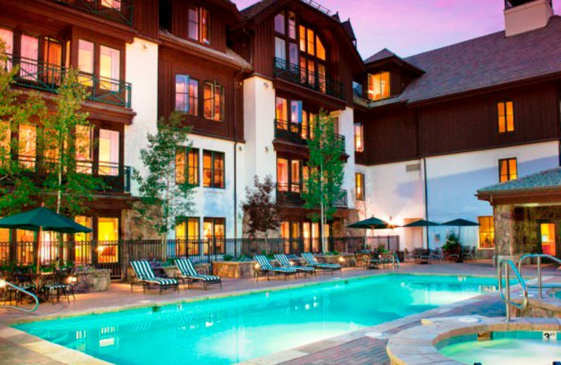 Outdoor pool at East West Resorts Beaver Creek.