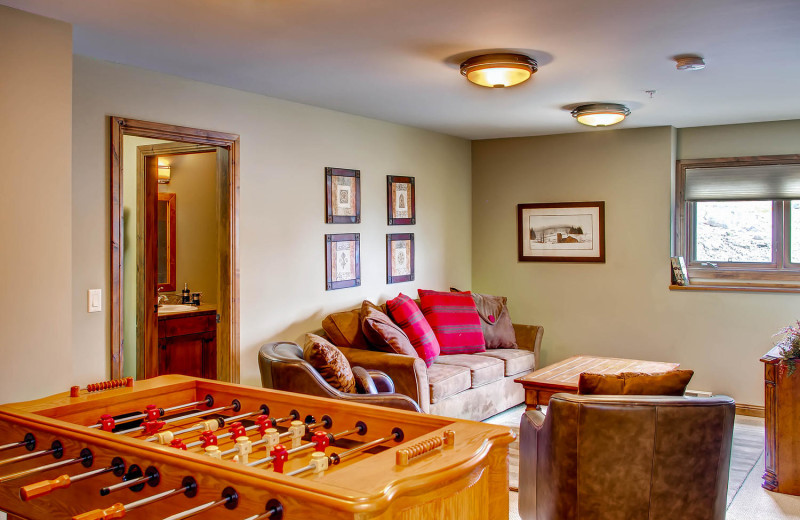 Family Den/Game Rooms at RentChalets
