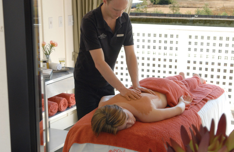 Spa massage at The Carneros Inn.