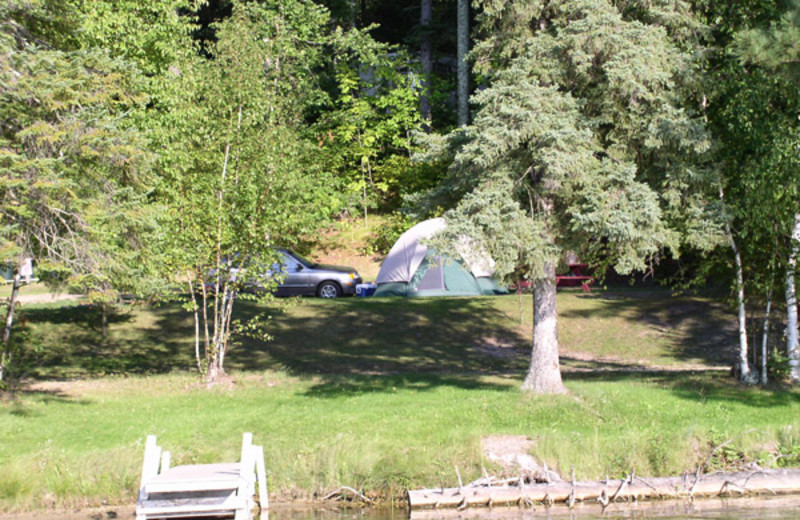 Camping at Moore Springs Resort.