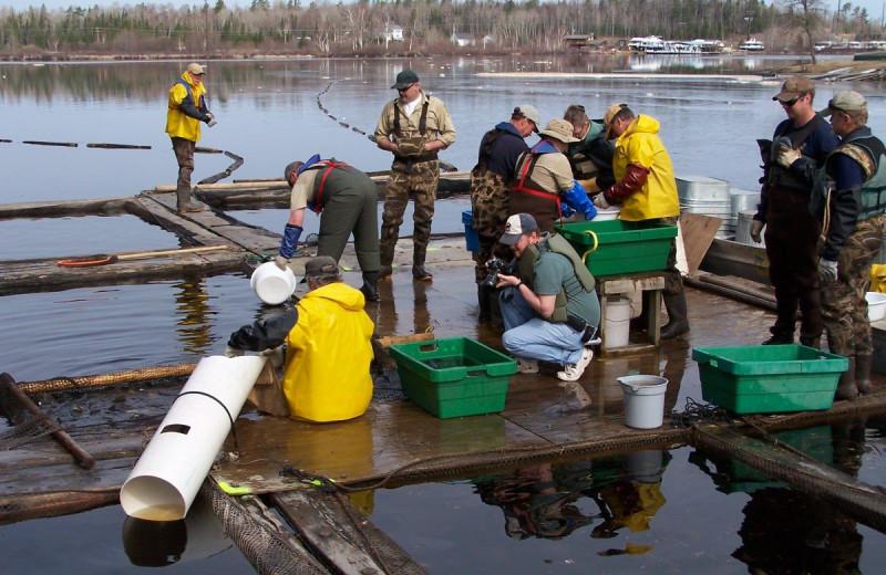 Fishing at Glenmore Resort.