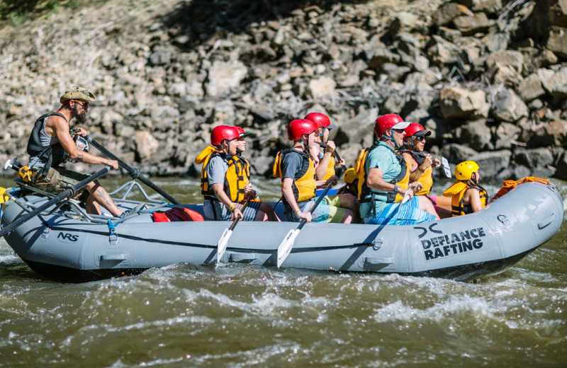 River rafting at Glenwood Canyon Resort.