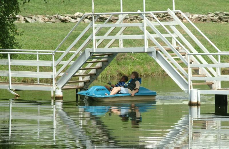 Paddle boat at Chestnut Grove Resort.
