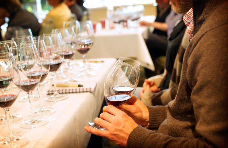 Wine tasting near Old Monterey Inn.