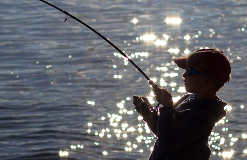 Fishing at Havasu Springs Resort.