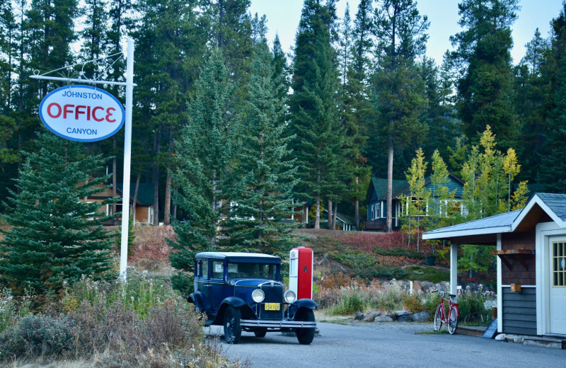 Exterior view of Johnston Canyon Resort.