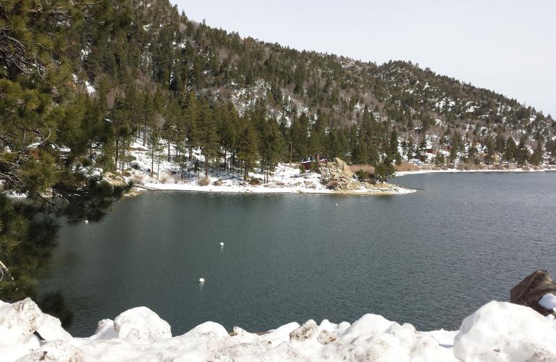 Lake view at Embers Lodge.