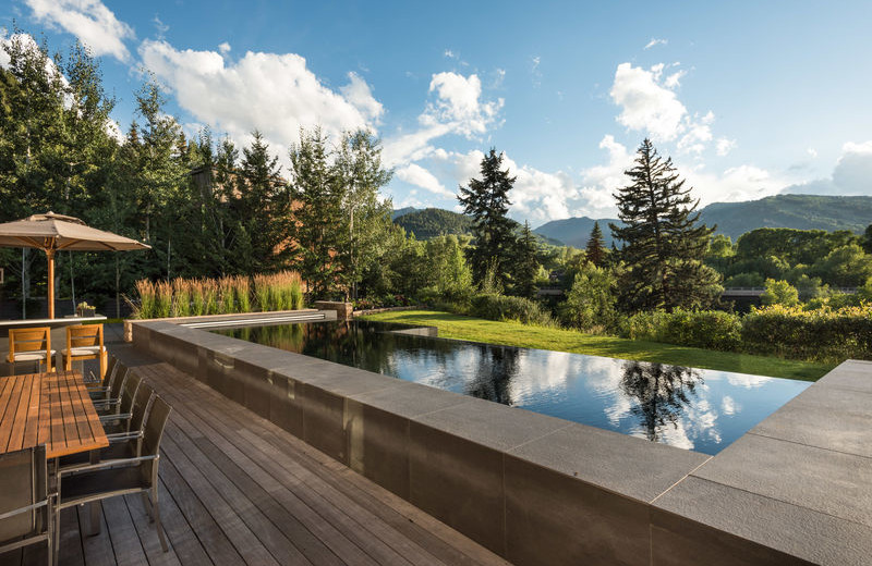 Rental pool at Aspen Luxury Vacation Rentals.