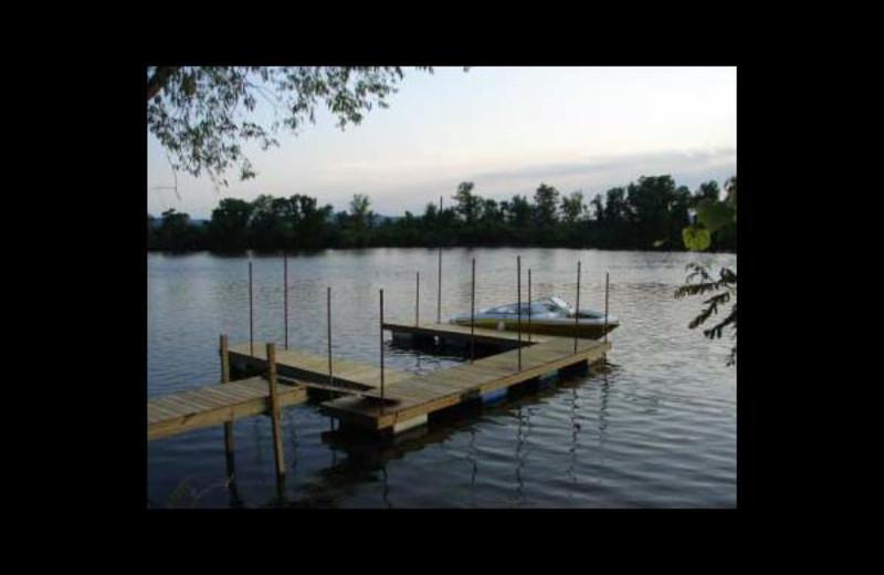 Docks at Ward's Riverside Cabins.