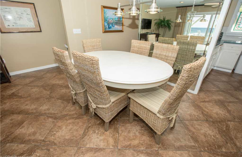 Dining room at Holiday Isle Properties - South Bay by the Gulf 124.