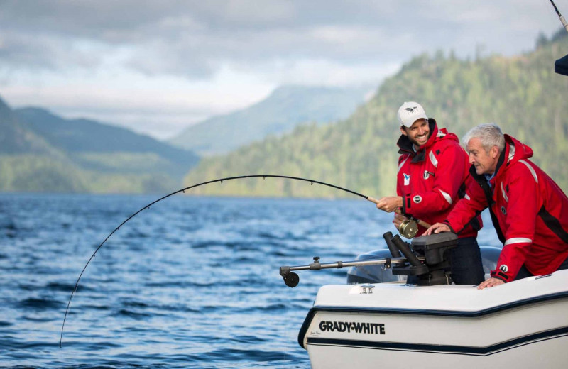 Fishing at Sonora Resort and Conference Centre, Canada.