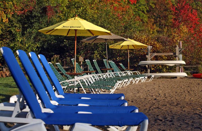 The beach at Lost Lake Lodge.