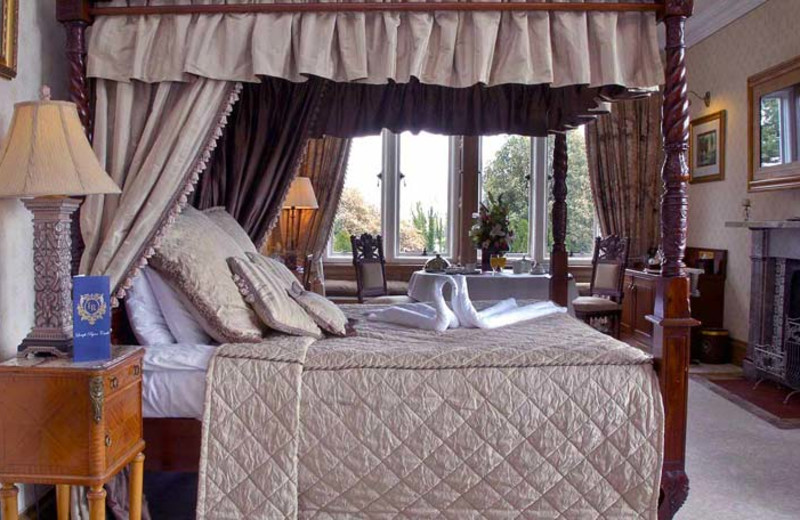 Guest room at Lough Rynn Castle Hotel & Estate.