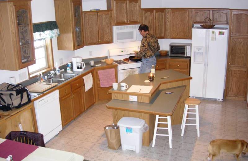 Kitchen at S & J Lodge.