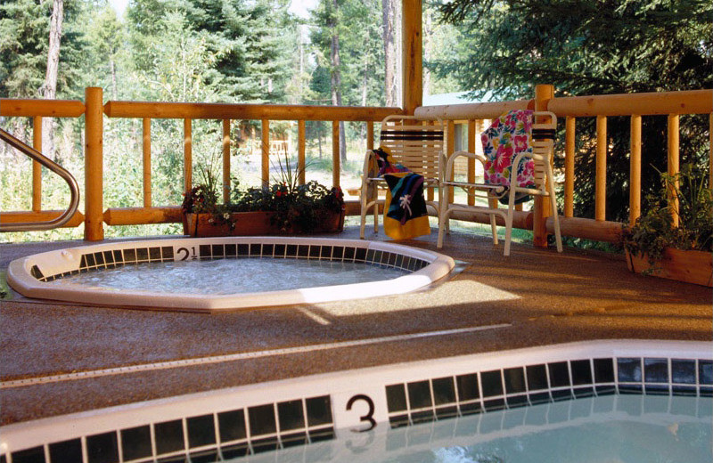 Hot tubs at North Forty Resort.