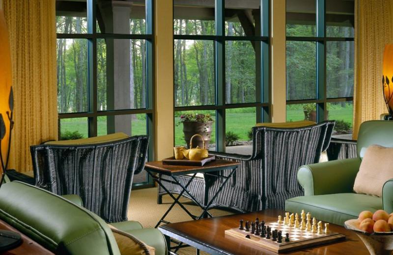 Spa lobby at The Lodge at Woodloch.