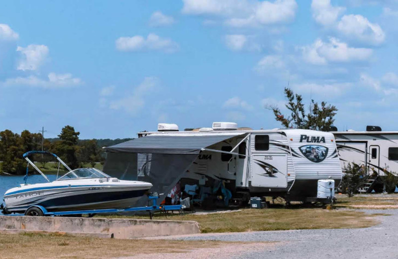 RV campground at D'Arbonne Pointe.