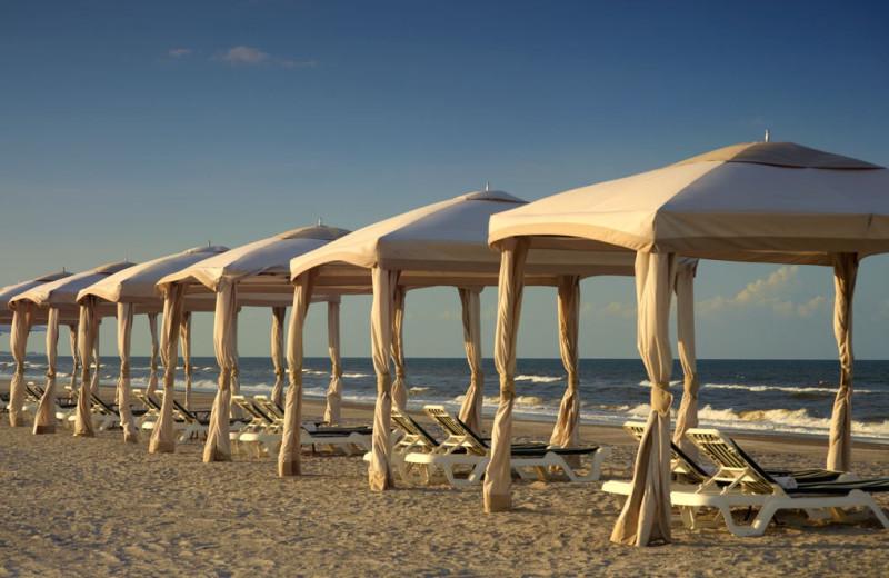 Beach cabanas at Omni Amelia Island Plantation.
