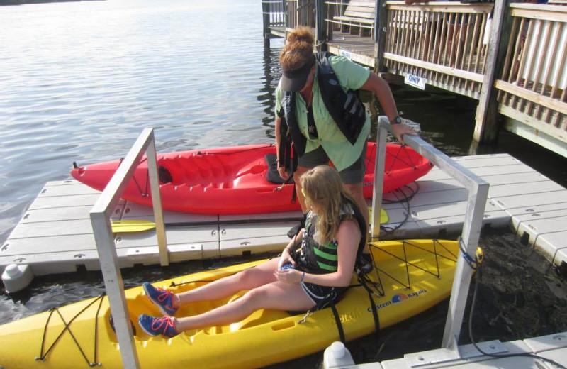 Kayaking at Palm Island Resort.