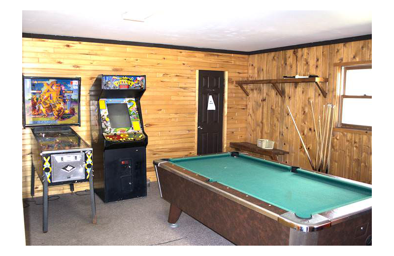 Game room at Silver Rapids Lodge.