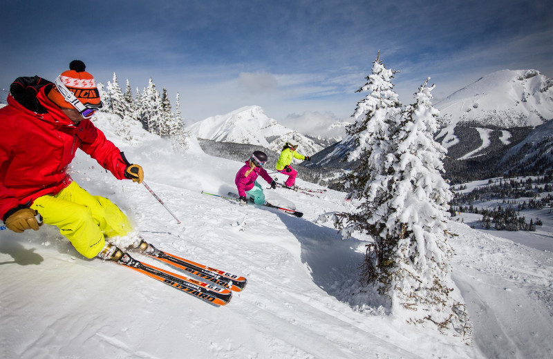 Skiing near Grande Rockies Resort.