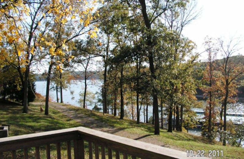 Lake view at Kentucky Beach Resort.