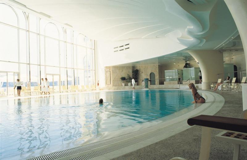 Indoor pool at Hotel de Paris.