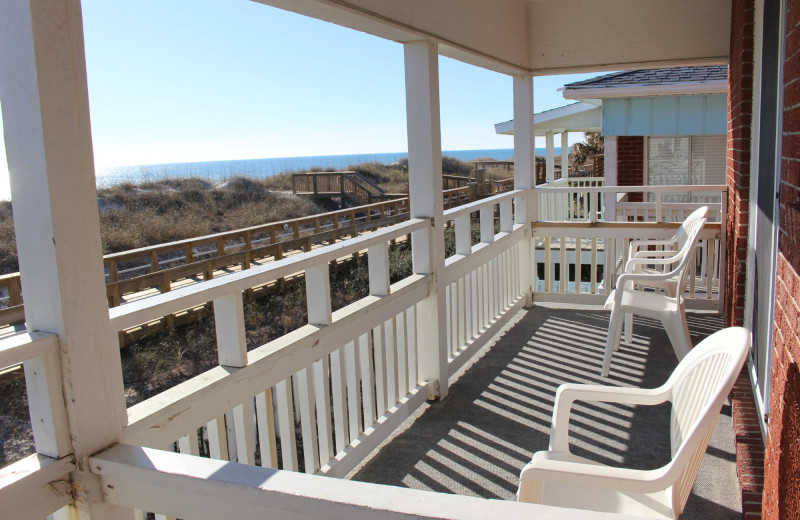 Balcony at Surfside Lodge Oceanfront.