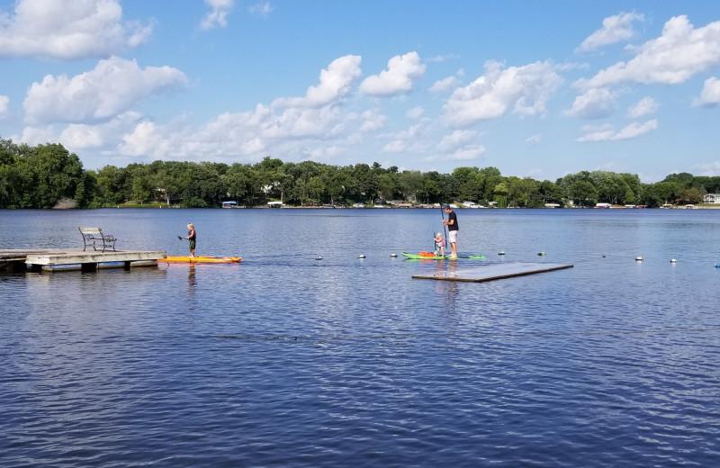 Lake view at Riverside Resort.