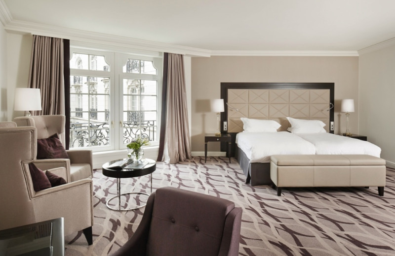 Guest room at Conrad Brussels.