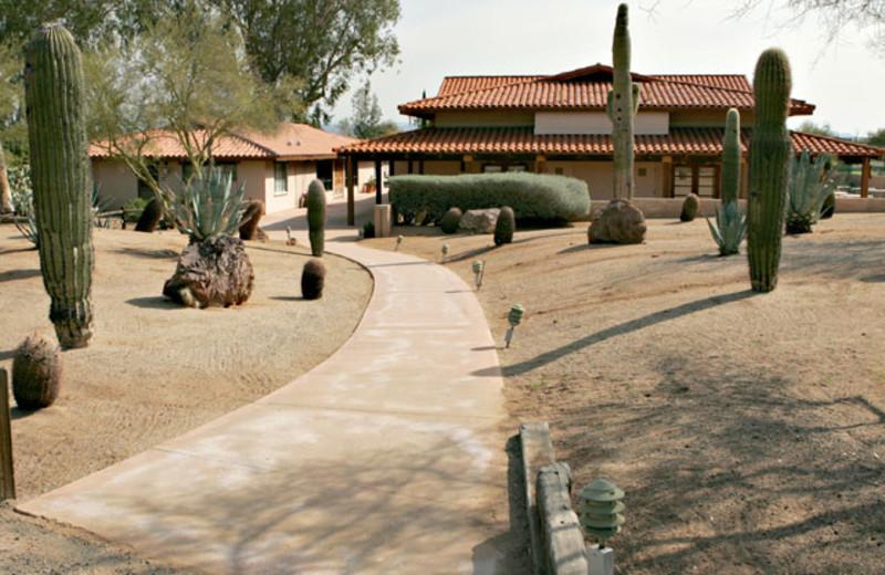 Spa exterior at Rancho De Los Caballeros.
