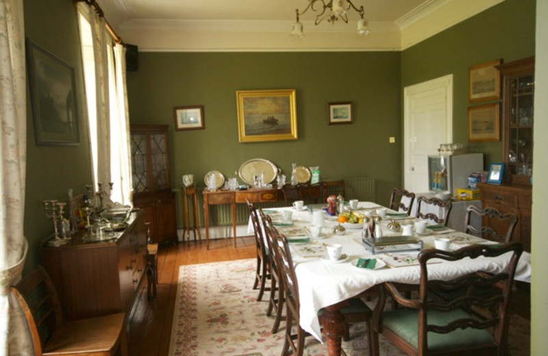 Dining at Loughcarrig House.