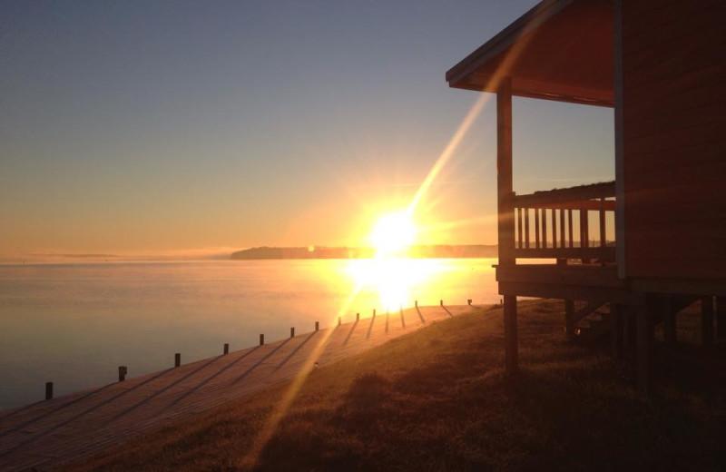 Sunset at D'Arbonne Pointe.