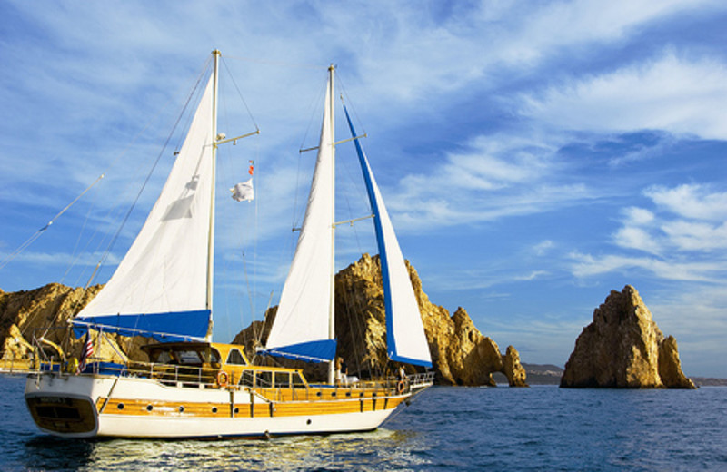 Boating at Hilton Los Cabos Resort.