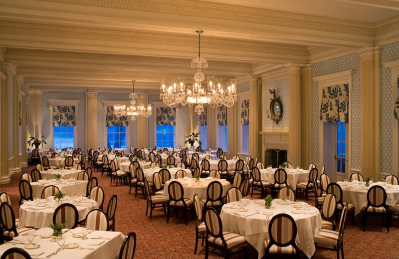 The Main Dining Room at The Otesaga Resort Hotel.