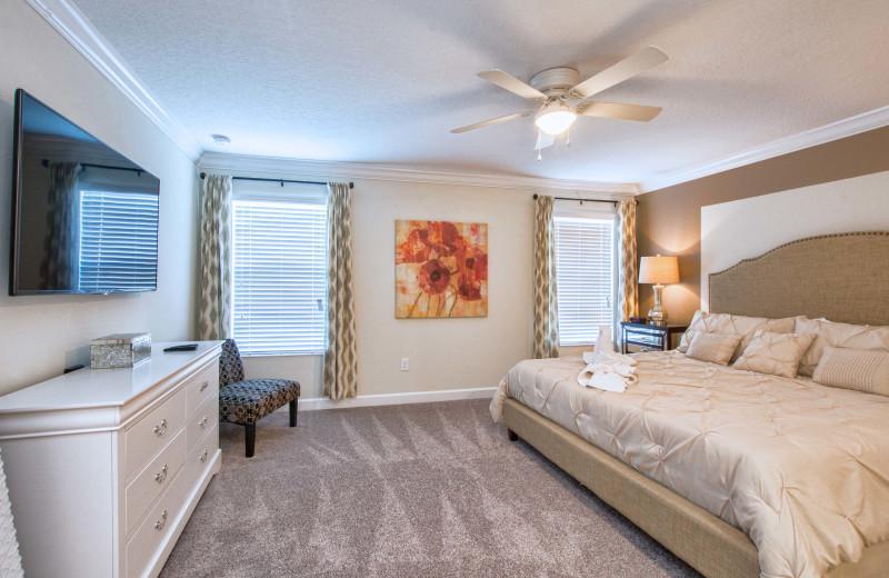 Rental bedroom at Vacation Pool Homes.