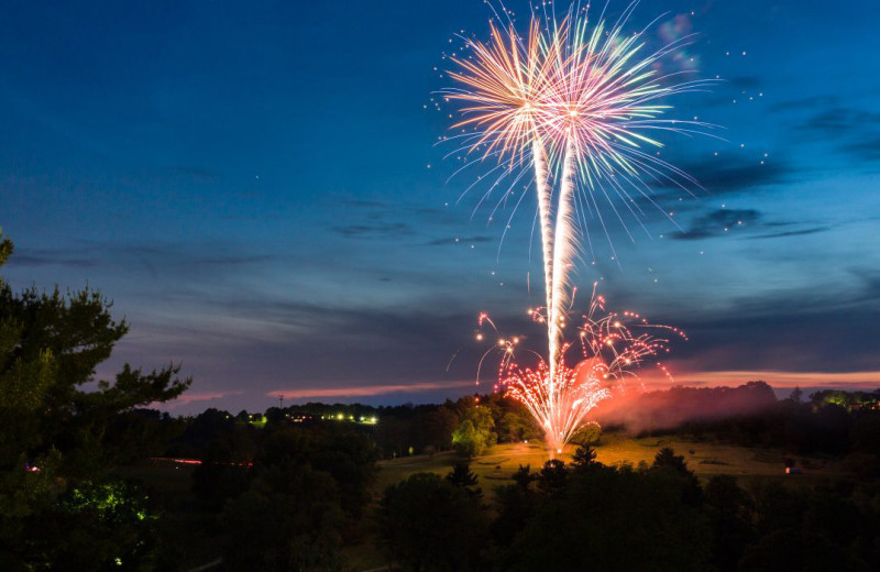 Fireworks at Oglebay Resort and Conference Center.