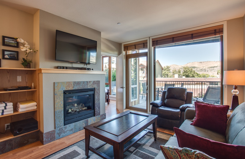 Rental living room at Sage Vacation Rentals.