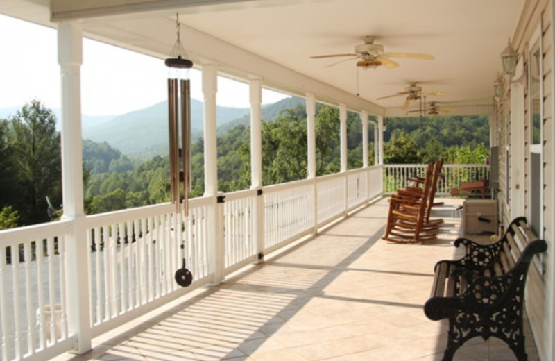 Deck view at Paradise Cabins & Spa.