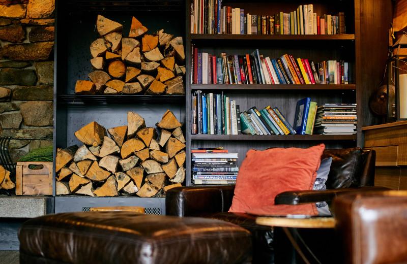 Books at CMH Bugaboos Lodge.