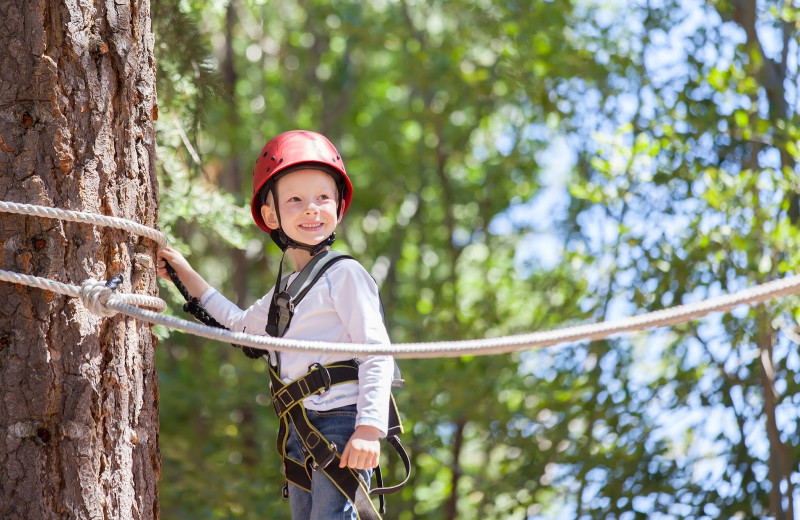 Adventure ropes at The Shawnee Inn and Golf Resort.