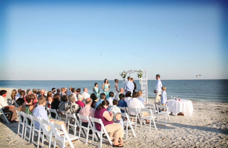 Beach wedding at Sundial Beach & Golf Resort.