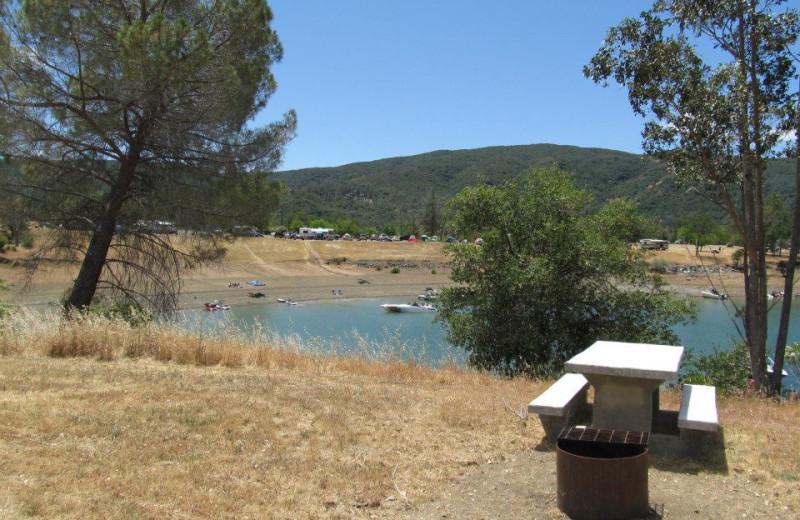 Camping at Pleasure Cove.