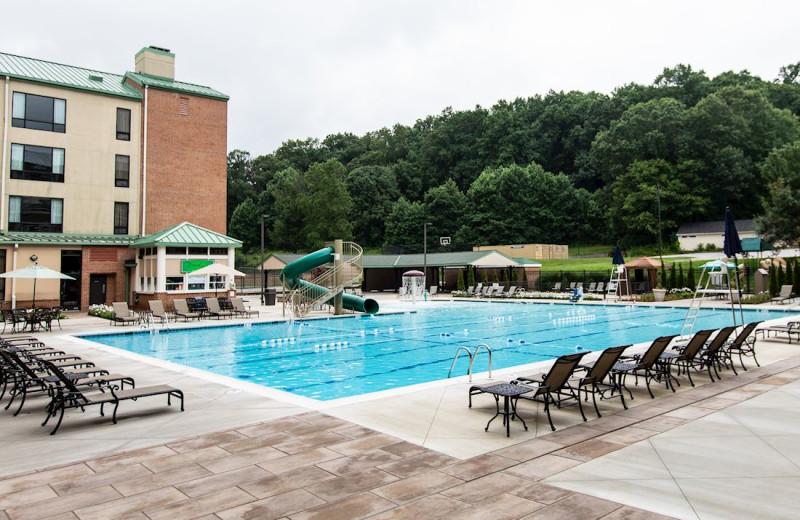 Outdoor pool at Turf Valley Resort.