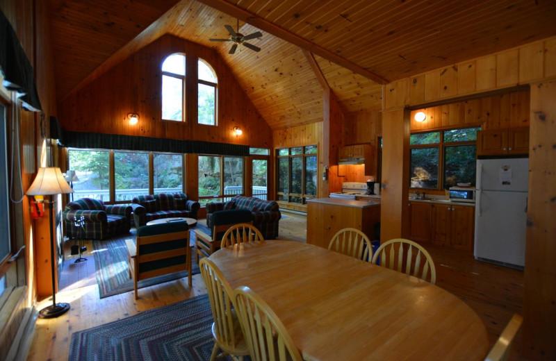Cottage interior at Port Cunnington Lodge & Resort.