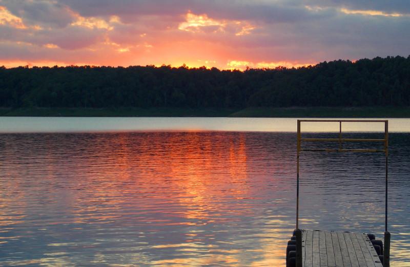 Sunset at Copper John's Resort.