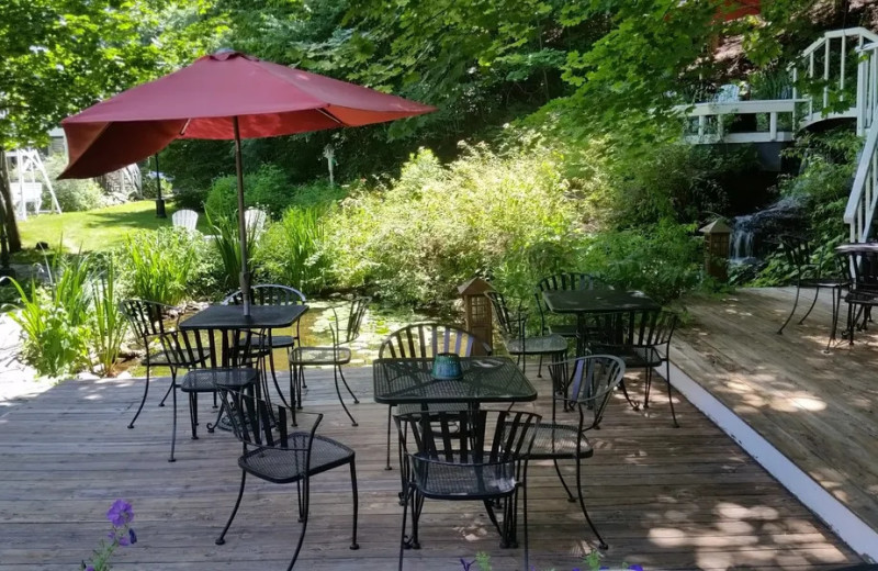 Patio at The Cornell Inn Lenox.